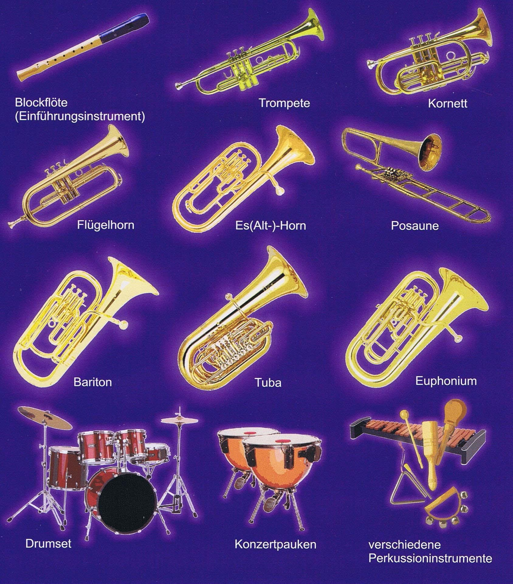 Die gelehrten Instrumente an der Orchesterschule KLANGwelt