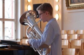 Robert hat den Aufstieg in die Brass Band BlechKLANG geschafft!