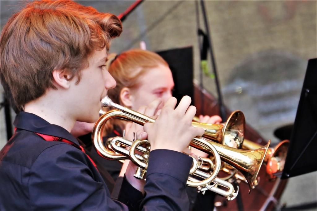 David Schmidt Principal Kornettist der Jugend Brass Band BlechKLANG
