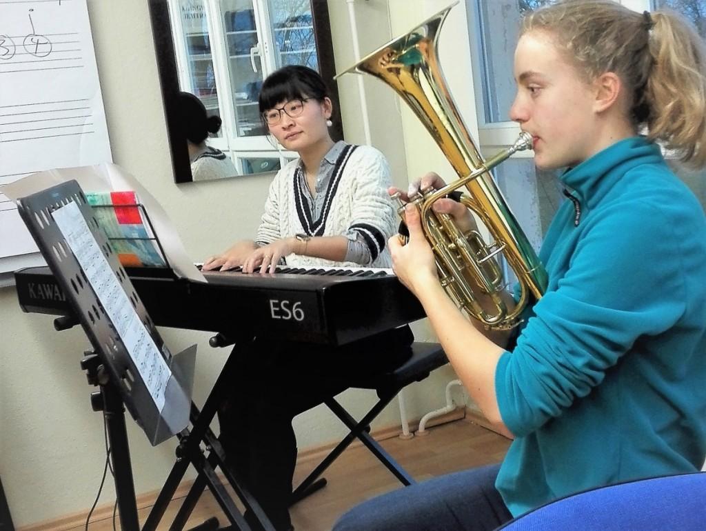 Korrepetition in der Orchesterschule KLANGwelt
