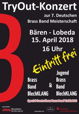 Try Out Konzert Jugend Brass Band BlechKLANG Deutsche Brass Band Meisterschaft