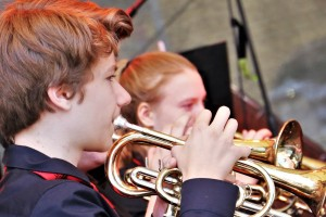 David Schmidt von der Jugend Brass Band BlechKLANG