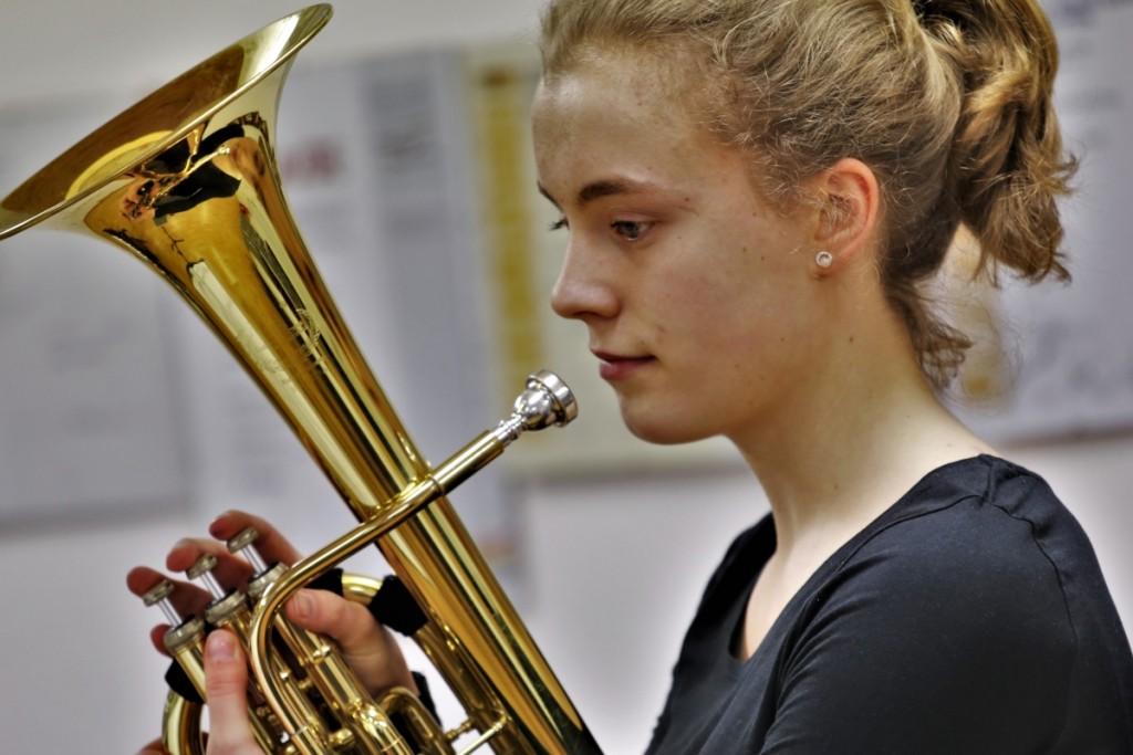 Teresa Fischer von der Jugend Brass Band BlechKLANG