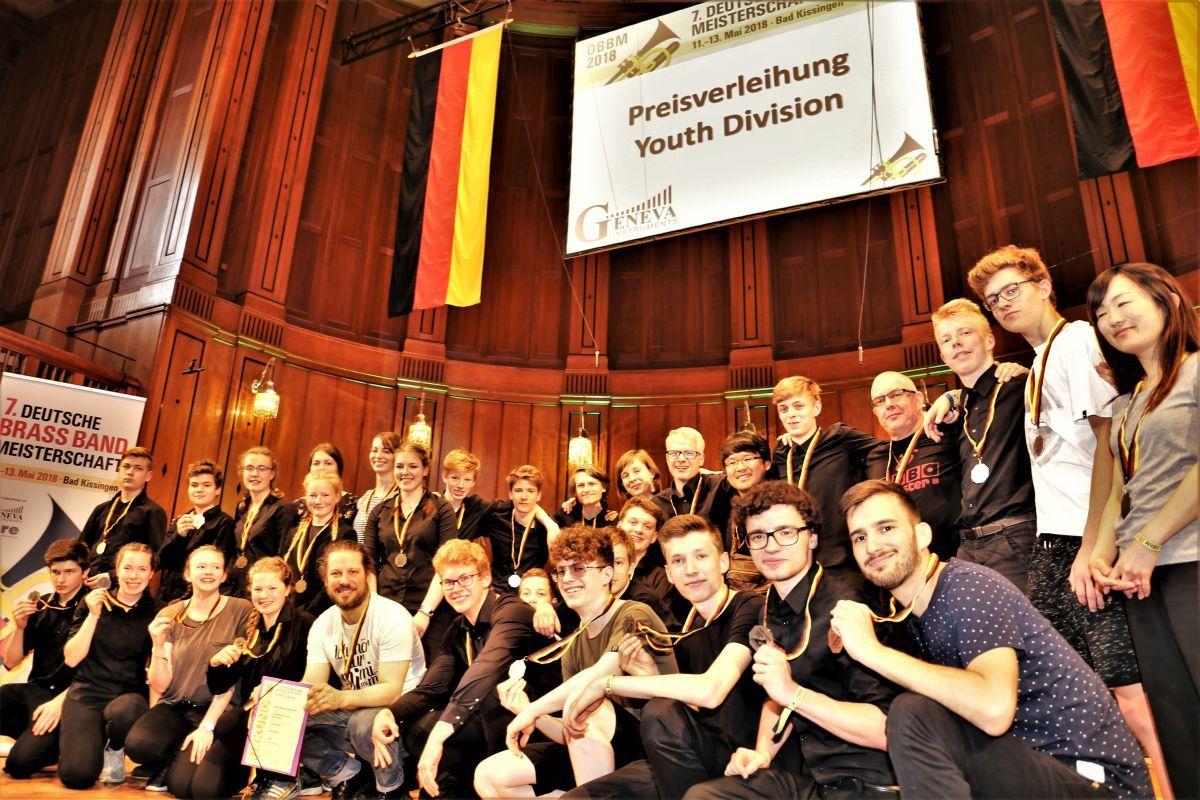 2018 Deutsche Brass Band Meisterschaft Jugend Brass Band BlechKLANG siegt in der Youth Division