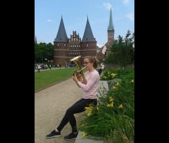 Teresa Fischer in Lübeck beim Bundeswettbewerb von Jugend musiziert