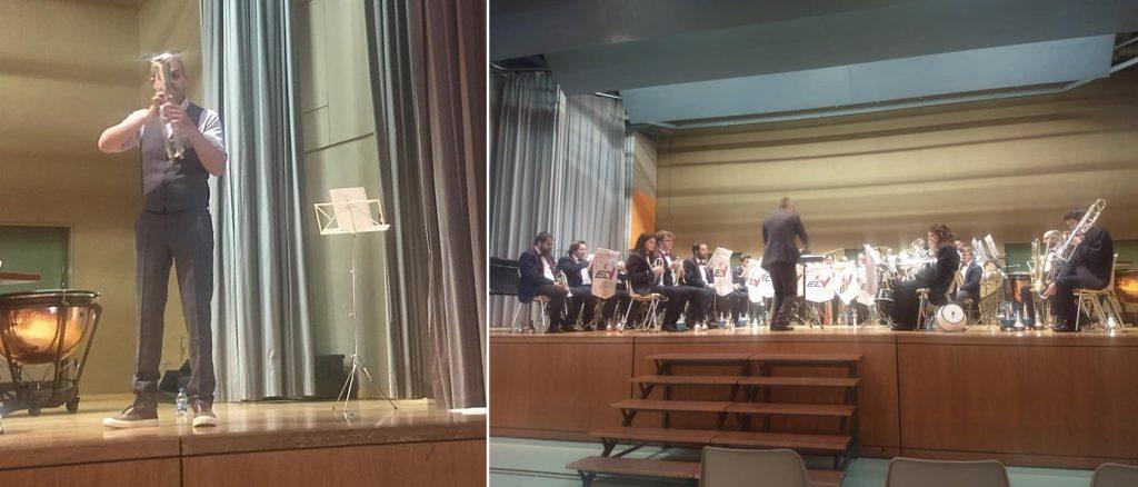 Ensemble de Cuivre Valaisan und Arfon Owen beim Swiss Alto Horn Festival