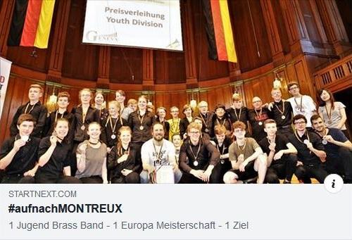 Jugend Brass Band BlechKLANG auf nach Montreux