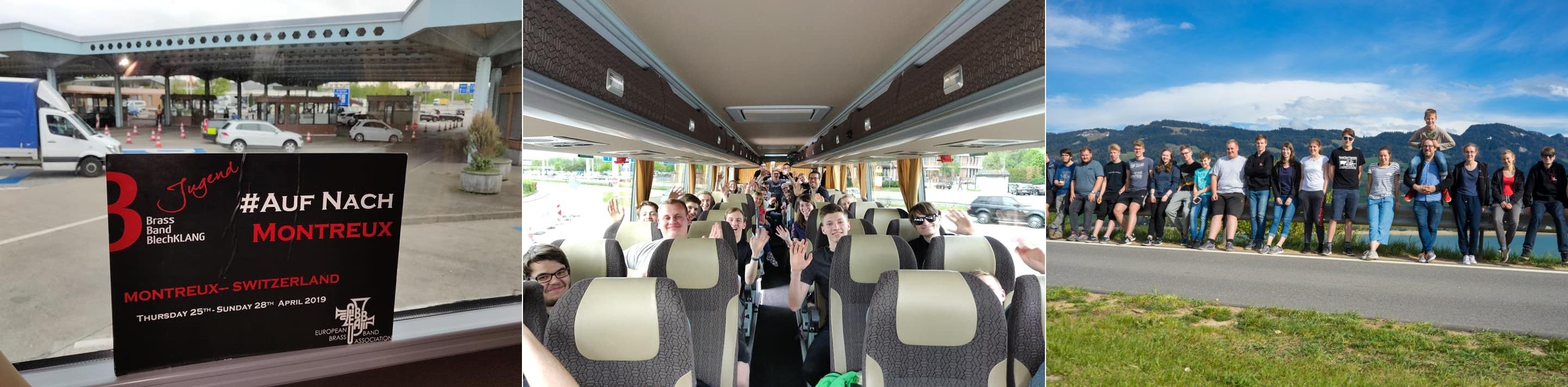 Jugend Brass Band BlechKLANG Fahrt nach Montreux