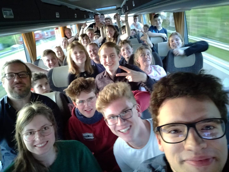 Jugend Brass Band BlechKLANG Rückfahrt Montreux