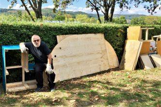 Ulrich Richter mit dem POPO im KLANGgarten der Orchesterschule KLANGwelt