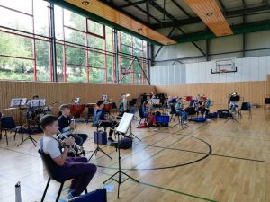 Probe Sommer Brass Band Camp Orchesterschule KLANGwelt 2020 (1)